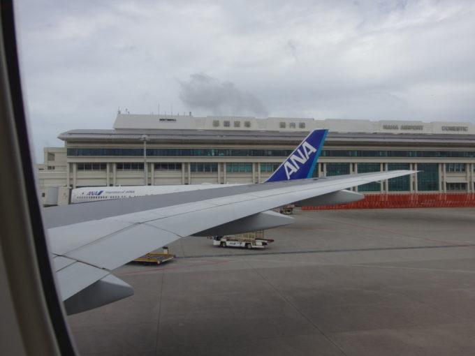 ANA那覇行き強風の中無事に那覇空港に着陸