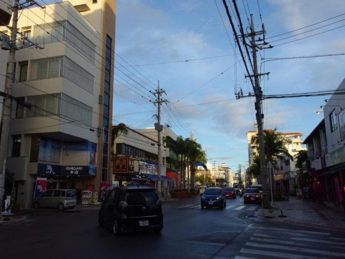 1年ぶりの石垣島雨上がりの市街地