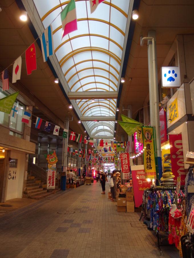 日本最南端石垣島のアーケードユーグレナモール