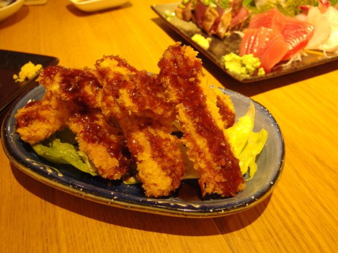 石垣島島人居酒屋8番地スパムを使ったポークフライ