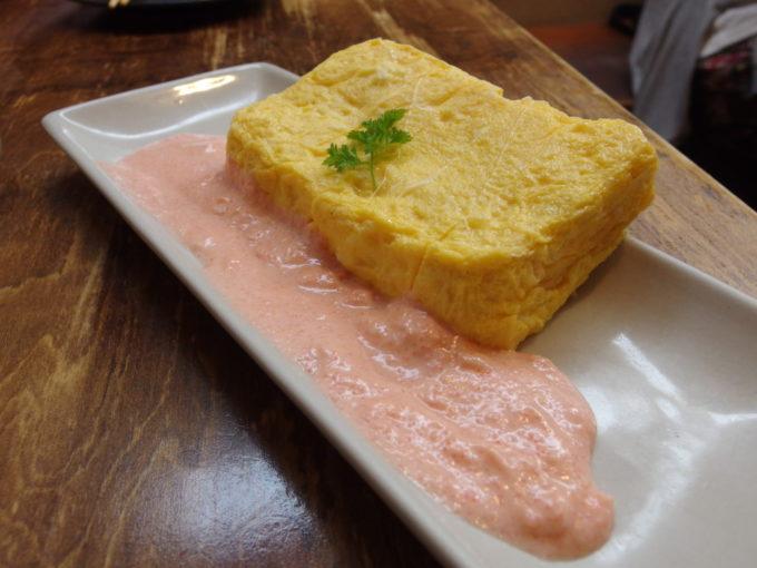 石垣牛と海鮮の店てっぺんチーズ厚焼き玉子明太マヨソース