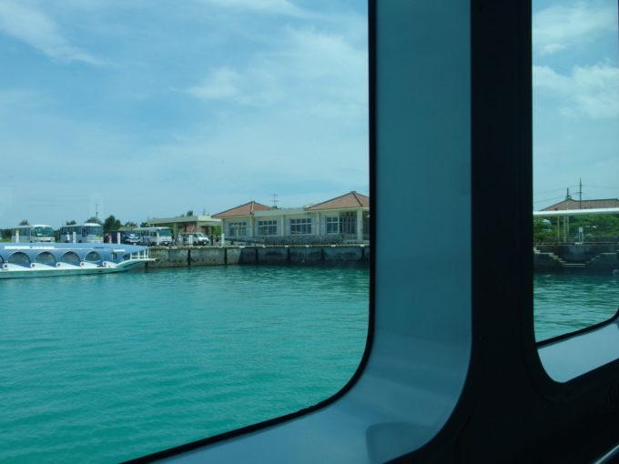 安栄観光ぱいじまは竹富港を離岸し島が遠ざかる
