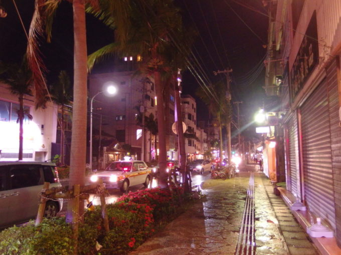 豊年満作で泡盛を呑み酔い心地で歩く石垣島の夜の街