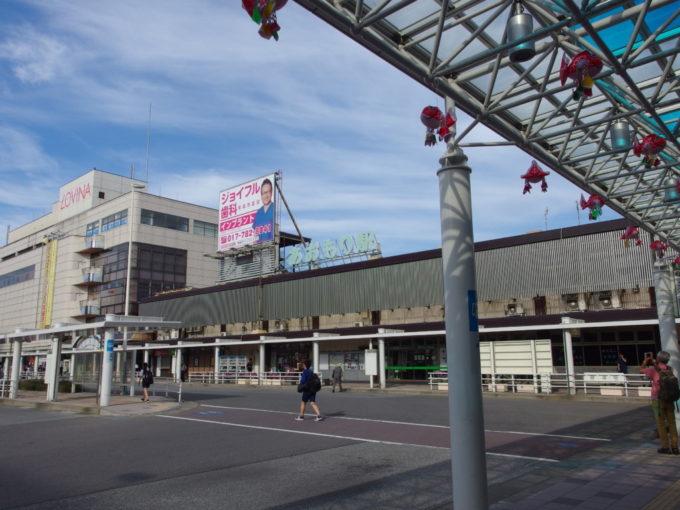 バスタ新宿発の弘南バス津輕号で到着した朝の青森駅