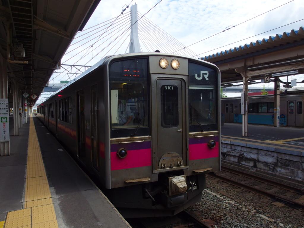 JR奥羽本線701系秋田行き普通列車