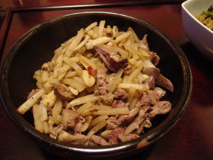 鶏肝と大根のマキシマム炒め