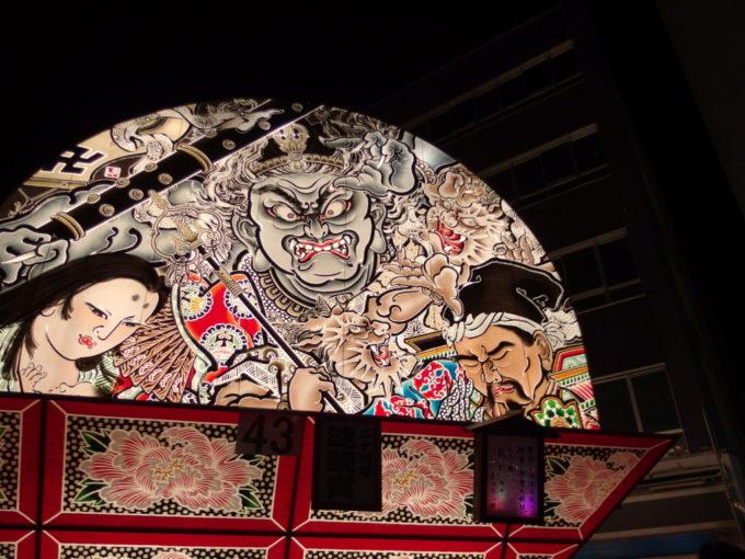 弘前ねぷたモノトーンが美しい赤倉大権現の鏡絵