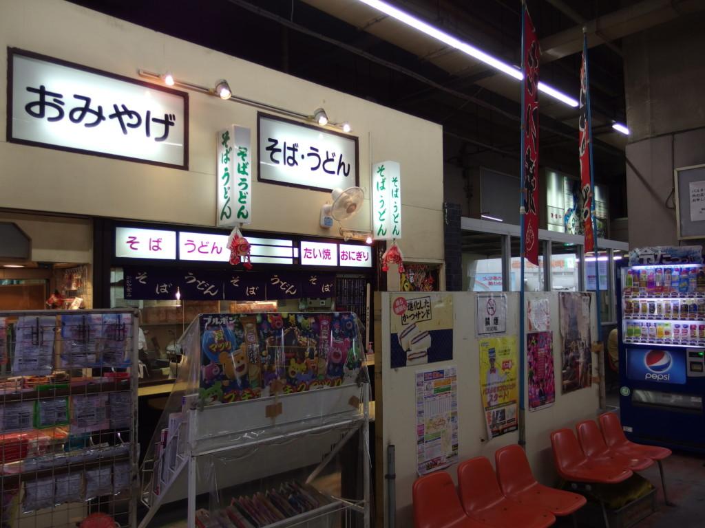 イトーヨーカドー内弘前バスターミナルに佇むそば店
