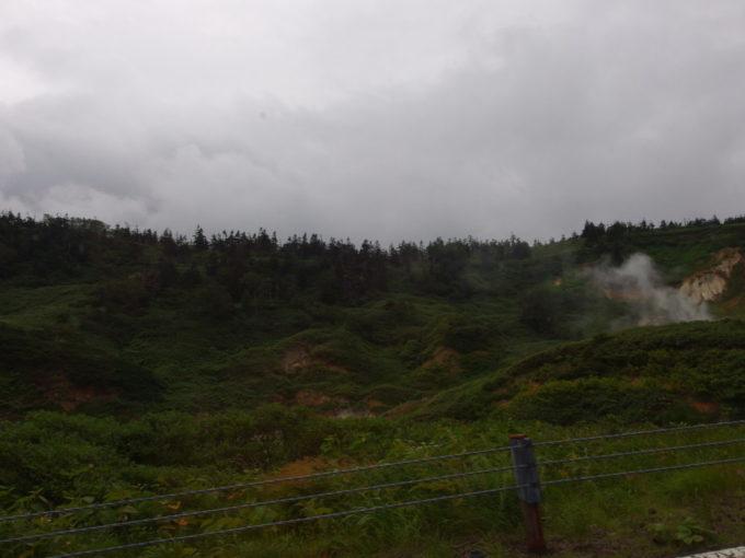 立ちのぼる湯けむりが見えれば藤七温泉はもうすぐ