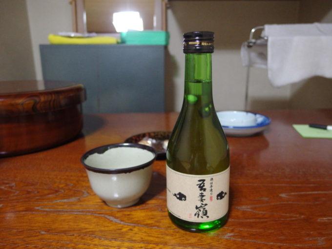 藤七温泉彩雲荘夜のお供に吾妻嶺純米酒を