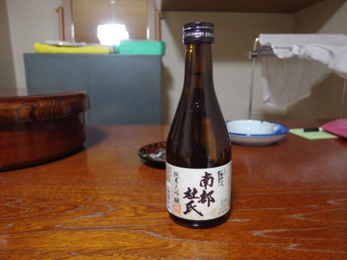 藤七温泉彩雲荘夜のお供に桜顔南部杜氏純米大吟醸を