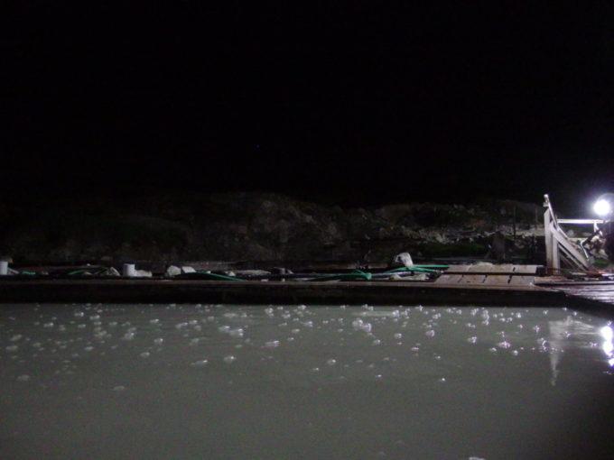 標高1400m東北地方最高地点の秘湯藤七温泉彩雲荘自噴泉の泡を見ながら愉しむ夜の露天風呂