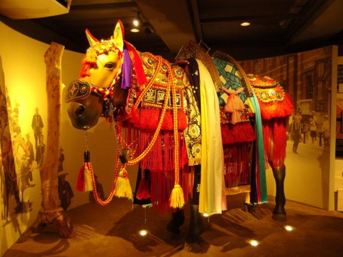 もりおか歴史文化館祭り常設展示室のチャグチャグ馬コ