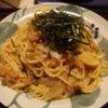 実山椒とごぼうの明太子スパゲティー