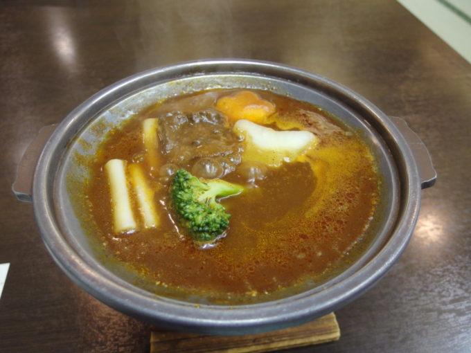 日光湯元温泉湯守釜屋2泊目夕食たんシチュー
