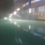 日光湯元温泉湯守釜屋日に照らされ美しく輝く薬師の湯