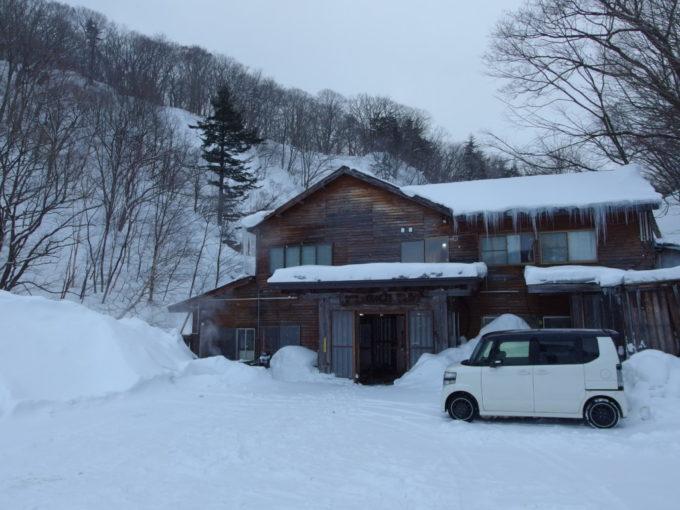 冬の松川温泉松楓荘