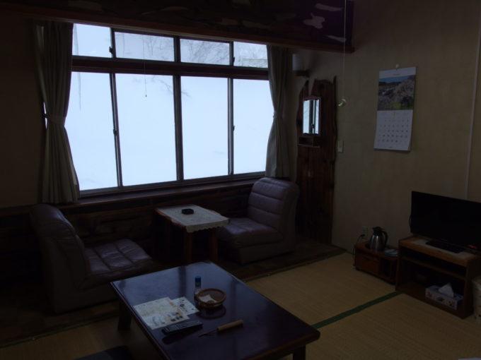 松川温泉松楓荘地熱暖房完備の室内