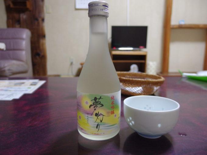 松川温泉松楓荘夜のお供にあさ開純米吟醸夢灯り