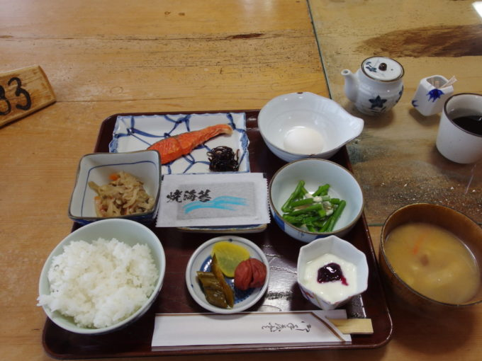 冬の松川温泉松楓荘1泊目朝食