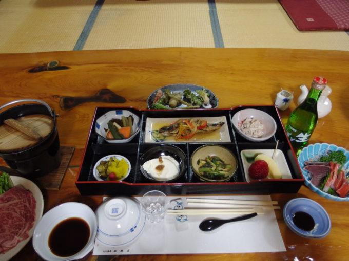 冬の松川温泉松楓荘2泊目夕食