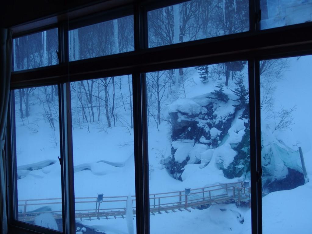 冬の松川温泉松楓荘で迎える最後の静かな朝