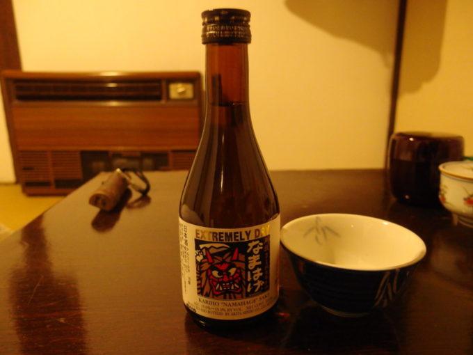 冬の乳頭温泉郷鶴の湯夜のお供に刈穂純米極辛口なまはげ