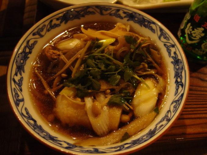 冬の乳頭温泉郷鶴の湯2泊目夕食きりたんぽ