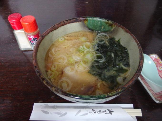 冬の乳頭温泉郷鶴の湯3日目昼食味噌ラーメン
