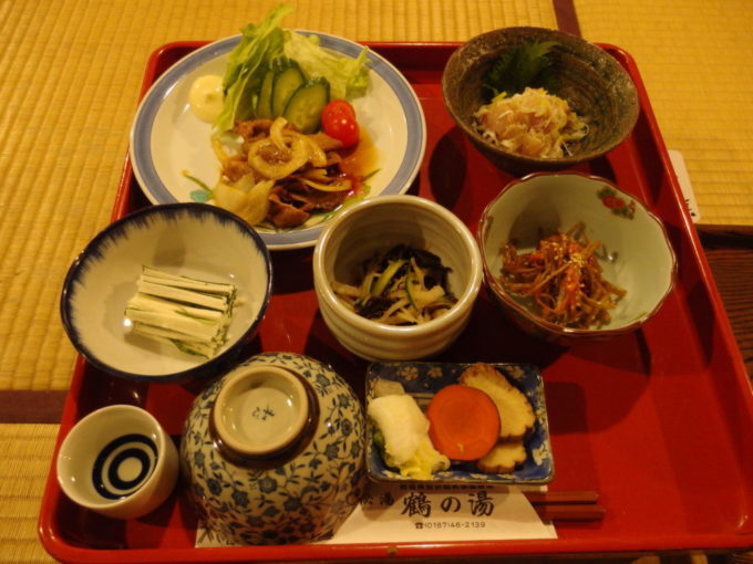 冬の乳頭温泉郷鶴の湯3泊目夕食