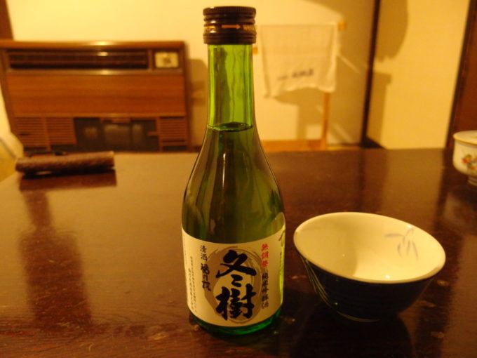 冬の乳頭温泉郷鶴の湯夜のお供に福乃友酒造無調整純米吟醸酒冬樹