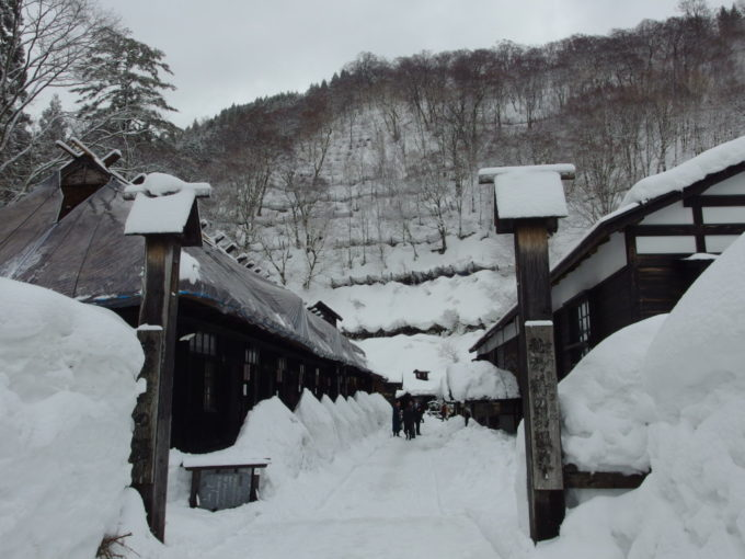 冬の乳頭温泉郷鶴の湯名残惜しくもチェックアウト