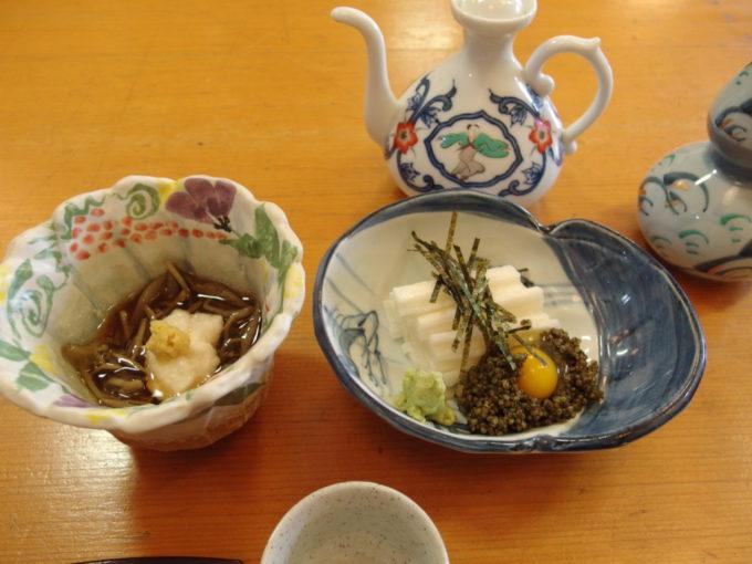 角館旬菜料理月の栞長芋とんぶりとじゅんさい