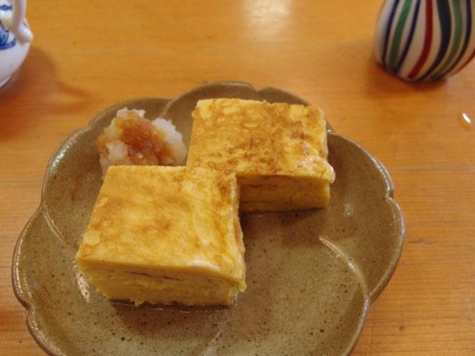 角館旬菜料理月の栞比内地鶏のだし巻玉子