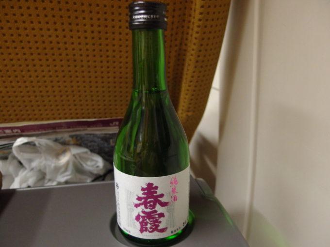 秋田新幹線E6系こまち号車窓のお供に春霞純米酒