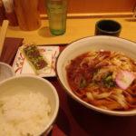 JR名古屋駅コンコース驛釜きしめんミニ麺定食レギュラーサイズ変更