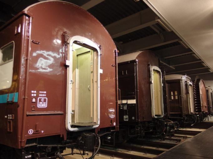 リニア・鉄道館昔懐かしいチョコレート色の客車たち