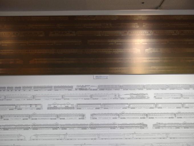リニア・鉄道館100系新幹線食堂車に使用されたエッチング板