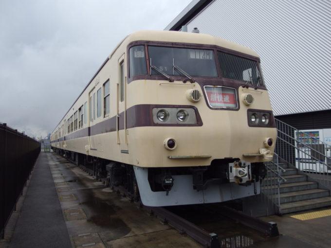 リニア・鉄道館屋外に展示された117系新快速