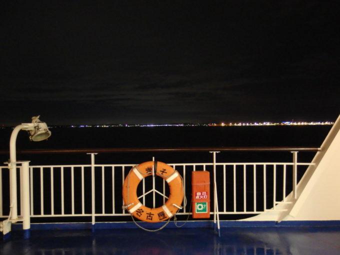 太平洋フェリーきそデッキから望む知多の灯り