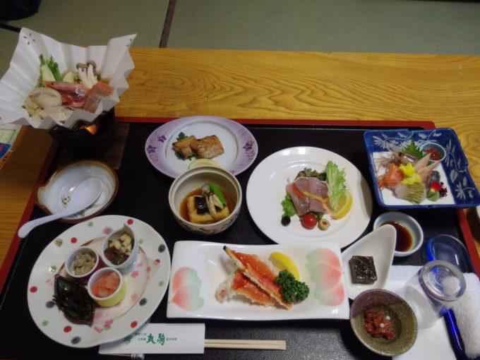 丸駒温泉旅館2泊目夕食