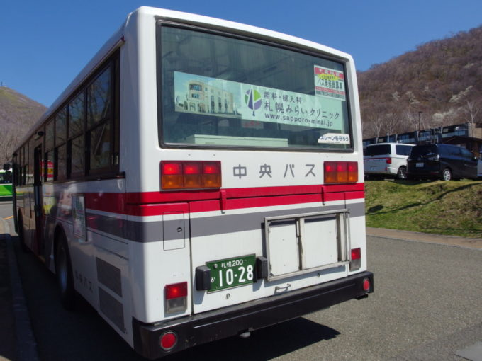 北海道中央バス支笏湖発新千歳空港行き路線バス