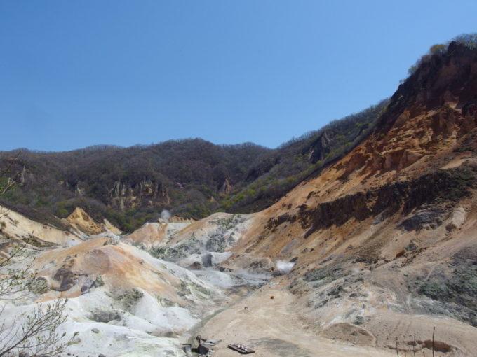 登別地獄谷荒涼とした光景