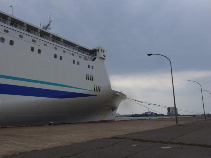新日本海フェリー新潟港でらいらっくに別れを告げる