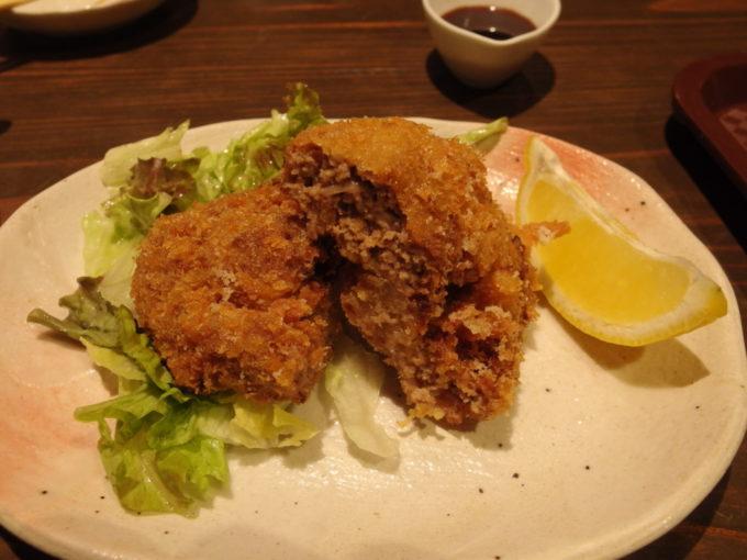 石垣島海鮮肉料理あきら美崎牛のメンチカツ