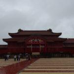 夏の沖縄那覇首里城正殿
