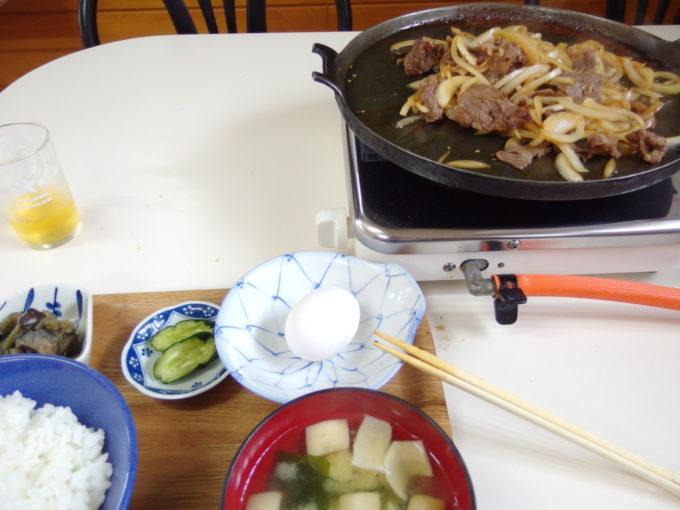 十和田湖温泉郷食堂上髙地牛バラ焼定食