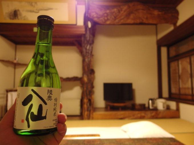 蔦温泉旅館夜のお供に陸奥八仙特別純米