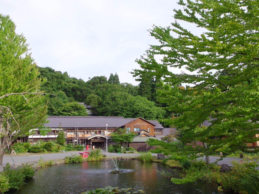 夏の蔦温泉旅館で迎える爽やかな朝