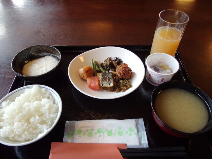 夏の蔦温泉旅館1泊目朝食
